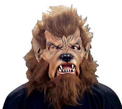 Wolfman Erwachsene Maske Latex Gummi Unheimlich Werwolf Monster Thema Party