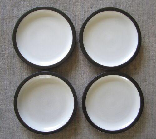 "Lot 4 Heath ceramics rim line brown gray rimmed dinner plates 11-1/2"""