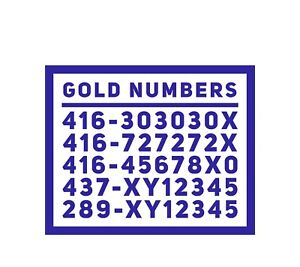 Rare phone numbers super easy to remember