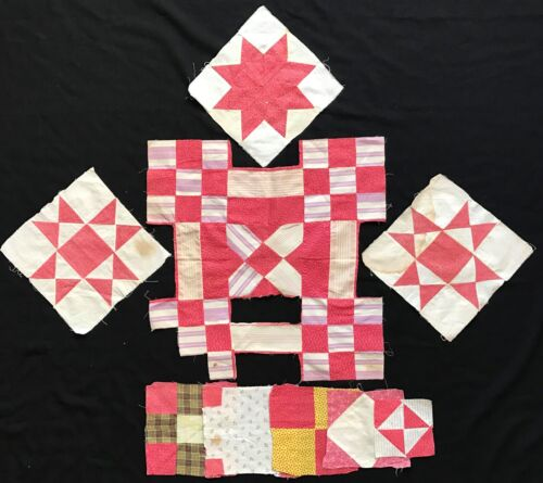 Antique Variety of Pink Quilt Blocks