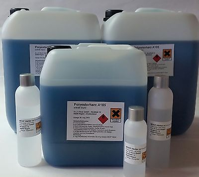 25 kg Polyesterharz A 105 - zu 5 und 10 kg Kanister Laminierharz + 500 g Härter