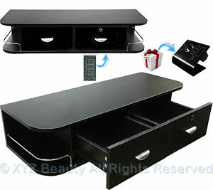 Black Contemporary Wall Mount Styling Station Barber Beauty Spa Salon Equipment
