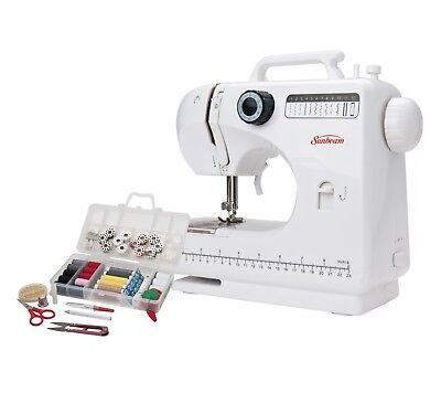 NEW Sunbeam SB1818 Compact Sewing Machine with Bonus Sewing Kit