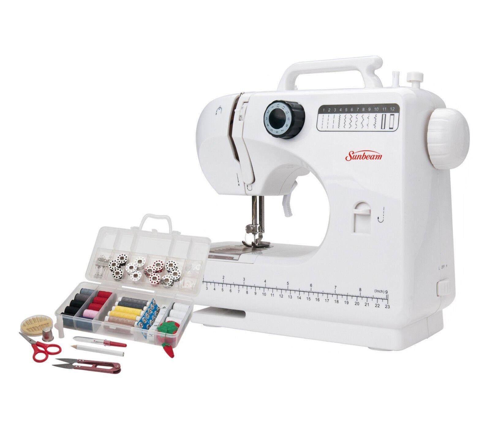 Sunbeam 12-Stitch Compact Sewing Machine, SB1818
