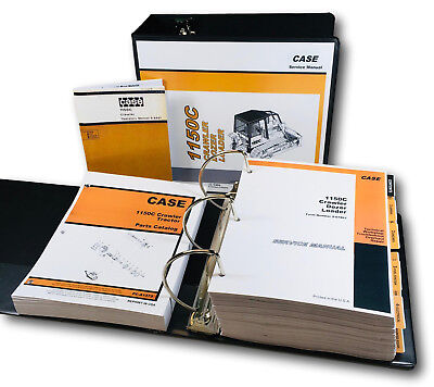 Case 1150c Crawler Loader Bull Dozer Service Parts Operators Manual Shop Set