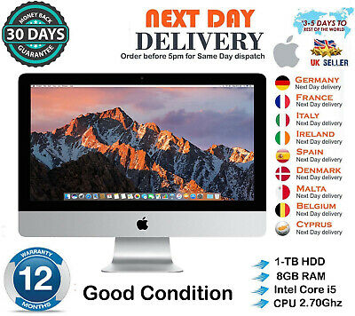 Apple iMac 27-Inch Intel Quad Core i5 2.7Ghz 8GB RAM 1TB HDD 2011 Good Condition segunda mano  Embacar hacia Argentina