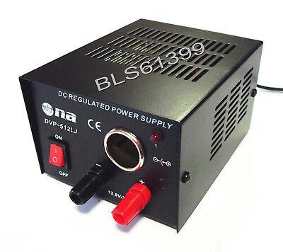 AC to 12 Volt DC 3-5 Amp Power Supply Converter w/ Car Lighter Plug Jack Socket