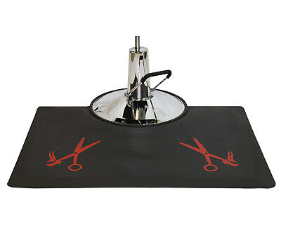 "1/2"" Thick Anti-Fatigue Beauty Floor Mat with Red Barber Sal"