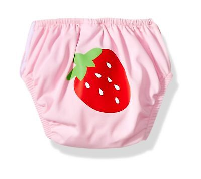 KIKO & MAX BABY GIRLS' SMALL ABSORBANT REUSABLE SWIM DIAPER STRAWBERRIES NEW NWT