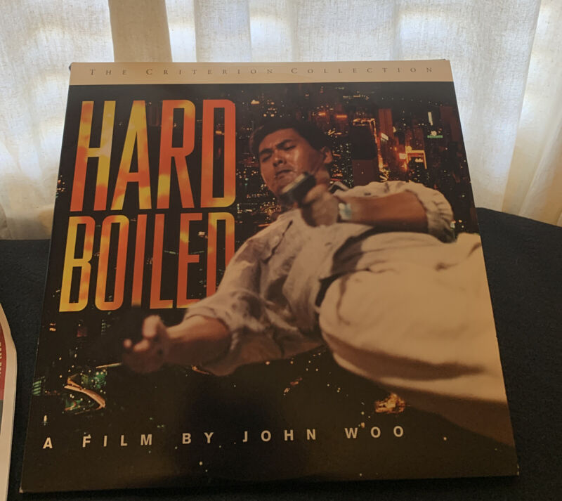 Laserdisc  - HARD BOLIED  - JOHN WOO - Criterion Collection 3 Disc Set