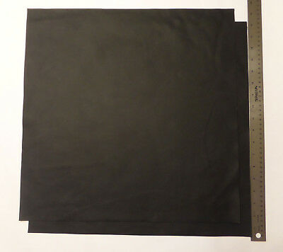Upholstery Leather Scrap 18 x 18 inches Black 1 Piece ()