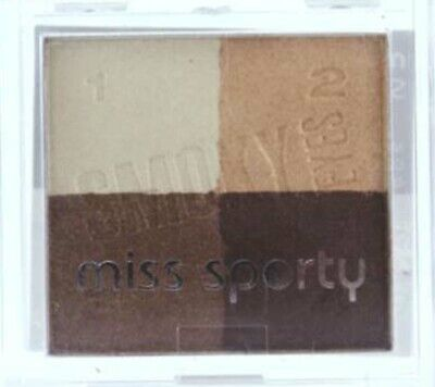 CREAM/GOLD/BROWN SHIMMER EYESHADOW QUAD #403 SMOKY EYES BY MISS SPORTY