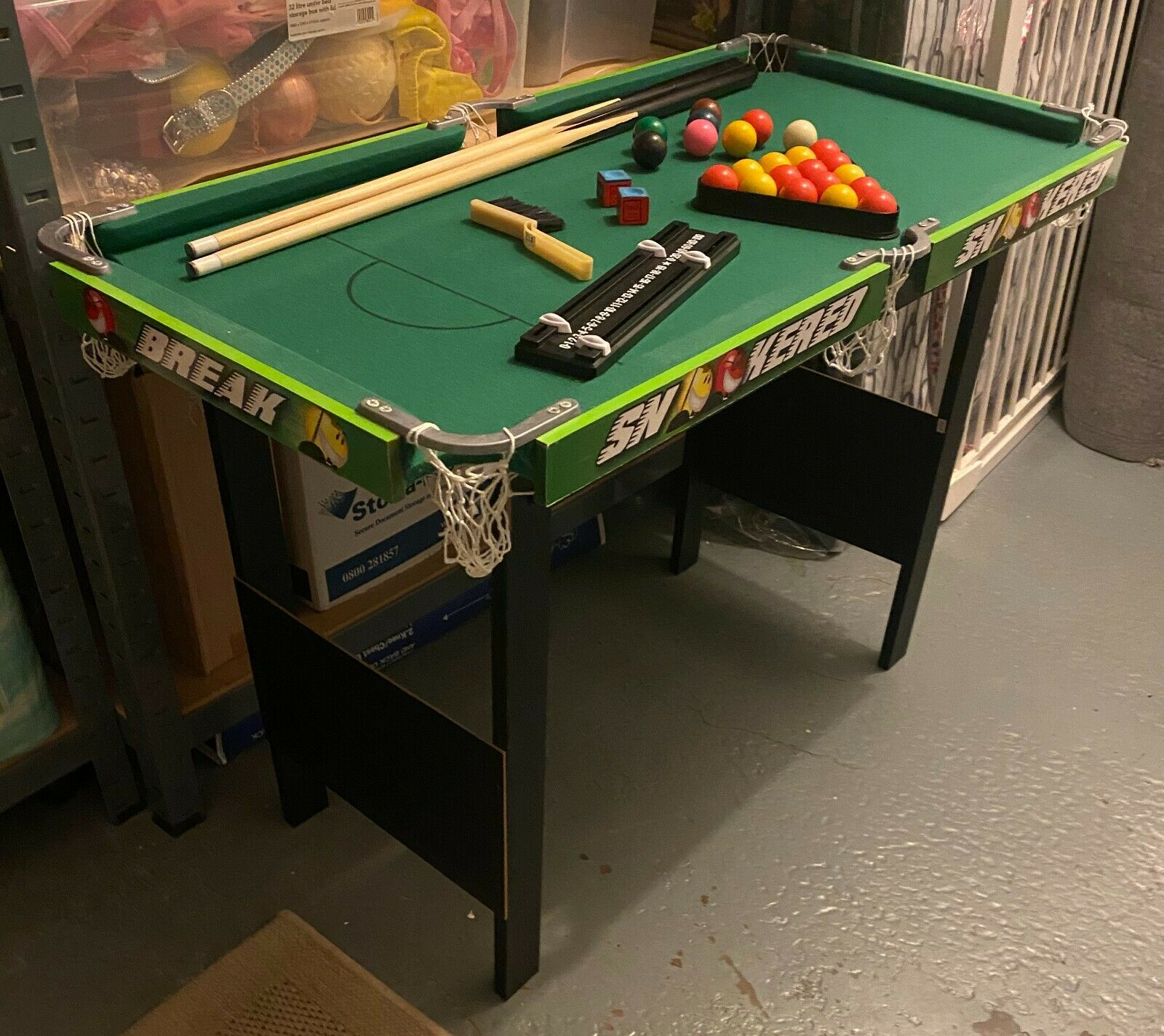 Children's Pool/Snooker Table with Accessories