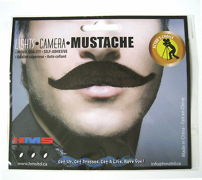 Sophisticated Brown Adult Costume Handlebar Mustache Adult Costume Accessory