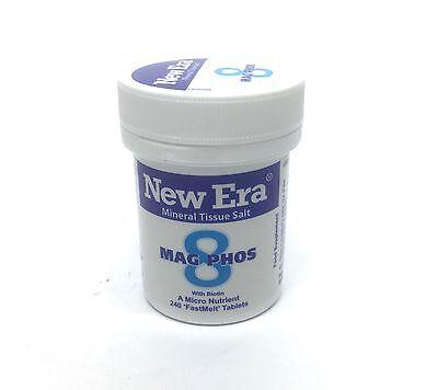 New Era No 8 Mag Phos Mineral Cell Salt 240 FastMelt Tablets
