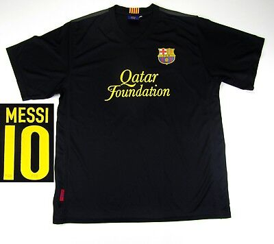BARCELONA  #10 MESSI FOOTBALL SOCCER JERSEY SHIRT TRIKOT REPLICA MENS SIZE L 5/5 10 Black Replica Football Jersey