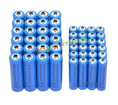 24 Aa 3000mah + 24 Aaa 1800mah Ni-mh Rechargeable Battery...