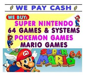 WANTED NINTENDO GAMES RETRO   ( I PAY TOP $$$ ) retro