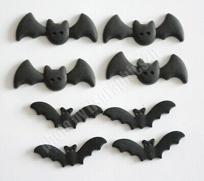 BATS / Halloween Theme Buttons by Buttons Galore / Sew Thru Eyes / 2 Sizes](Halloween Buttons)