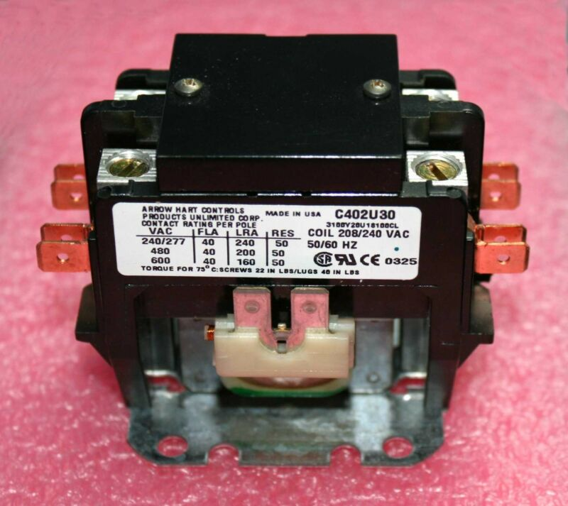 Arrow Hart, 2-Pole Magnetic Contactor #C402U30