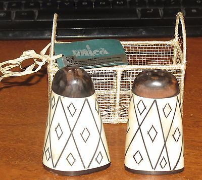 - Unica Carabao/water Buffalo horn & Bone Salt & Pepper shakers NEW!!