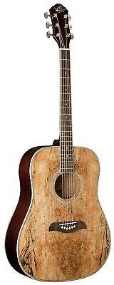 Oscar Schmidt Dreadnought 3/4 Size Acoustic Guitar, Spalted Maple, OG1SM