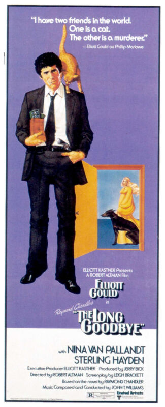THE LONG GOODBYE Movie POSTER 14x36 Insert B Elliott Gould Nina Van Pallandt