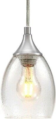 Retro Industrial Pendant Light Fixture Vintage Glass Hanging Kitchen Island Mini