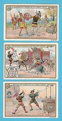 LIEBIG - SET OF 6 CARDS -  S 623  /  F 625  -  DUELLING  -  1900