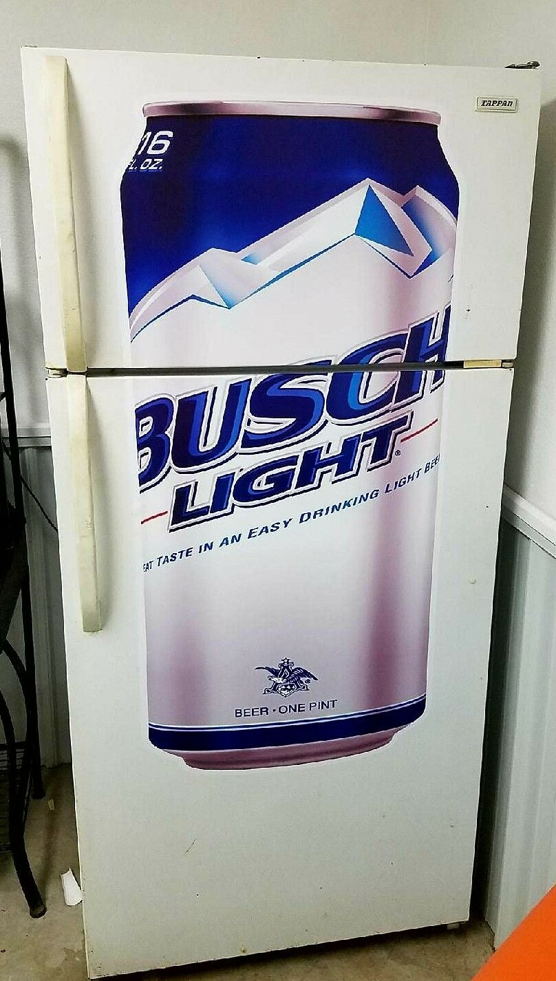 Busch Light Bud Beer fathead wall sticker 4' dorm room man cave refrigerator