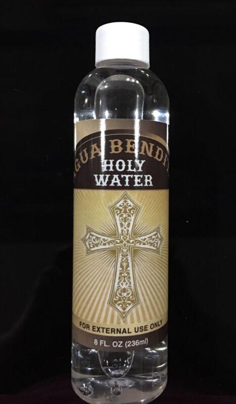 HOLY WATER SPIRITUAL RELIGION BLESSINGS SELF HELP/AGUA BENDITA 8OZ.