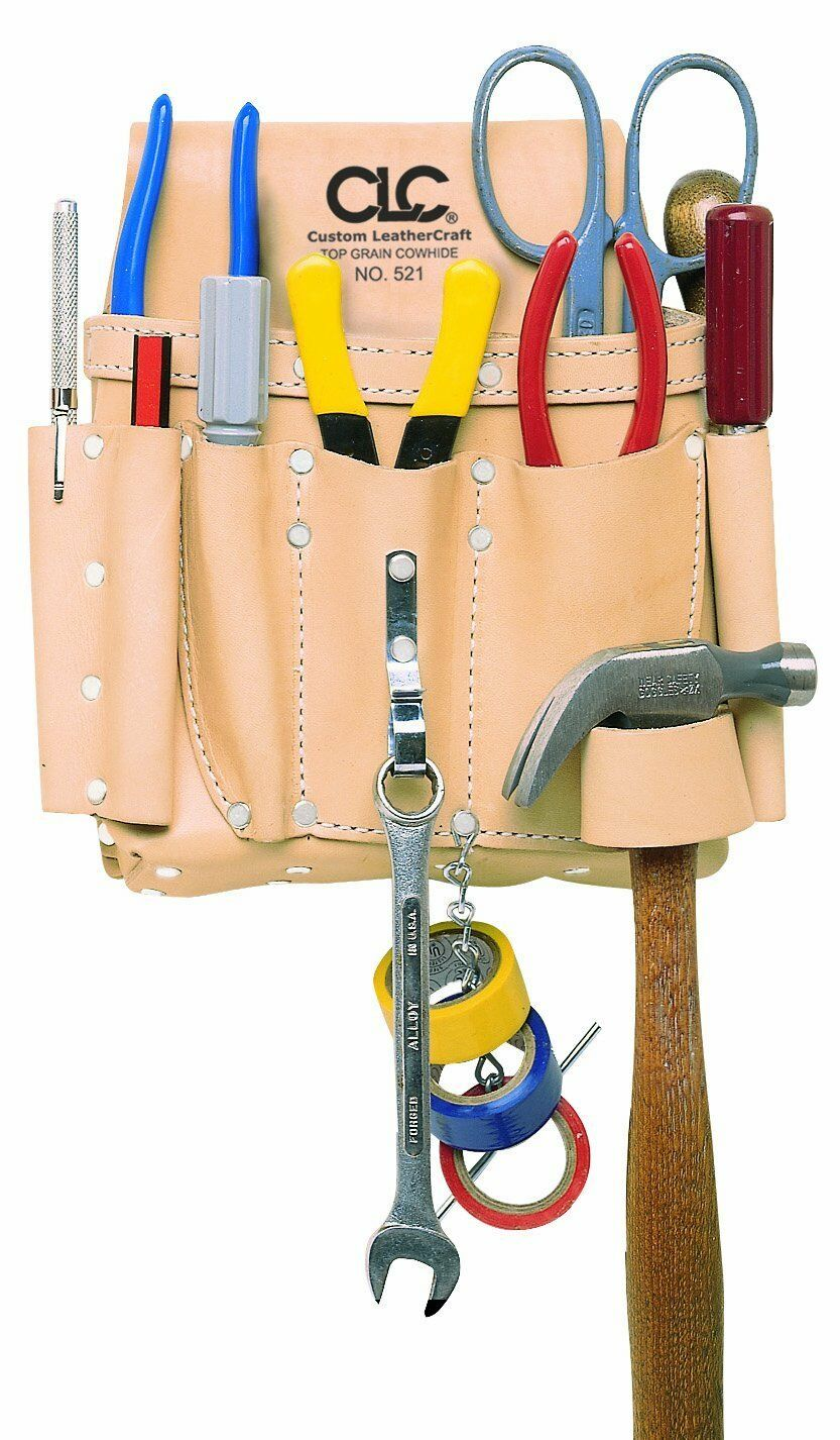 CLC Custom Leathercraft 521 Electrician's Tool Pouch, Heavy