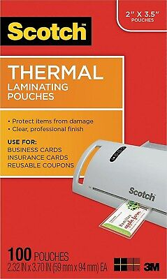Scotch Thermal Laminating Pouches Business Card Size 2657098