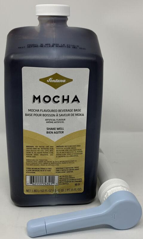 STARBUCKS Fontana Mocha Chocolate Sauce W/ PUMP 63 Oz. Best Before 12/26/20