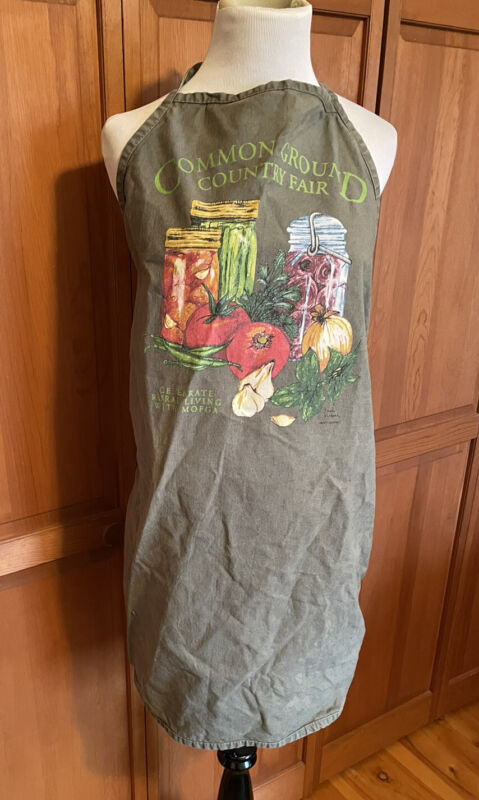 Vtg Common Ground Country Fair Maine Canning Jars APRON One Size Fits All Unisex