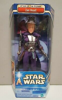 Star Wars 12 inch Zam Wesell Attack Of The Clones Figure - FREEPOST