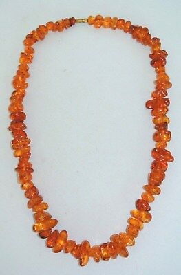 Vintage Lucite Amber Nugget Bead Chunky 24