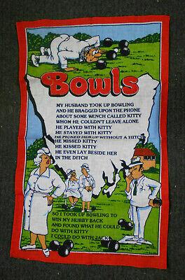 #KK2.   LAWN  BOWLS  SOUVENIR  TEA TOWEL