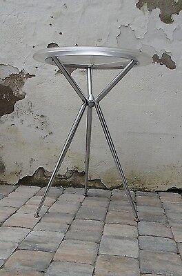 Enrico BALERI runder Beistelltisch/TAVOLA stahl/Chrom/Polycarbonat 55cm