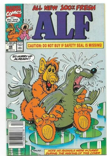 Alf #48 FN+ Controversial Risque Seal Cover Newsstand 1st Print Marvel Comics