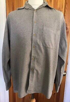 "Vintage Kenmore Textured Flannel Slim Fit Shirt Size L  40"" Chest V Good Cond"