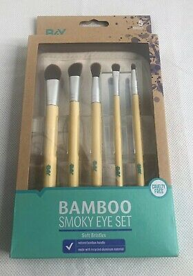 New Better For You  B4Y Bamboo Smoky Eye Set Soft Bristles Free (Best Brush Set For Eye Makeup)