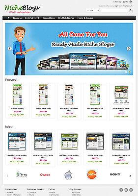 Niche Blogs Store Website For Sale - 40 Blogs Preloaded