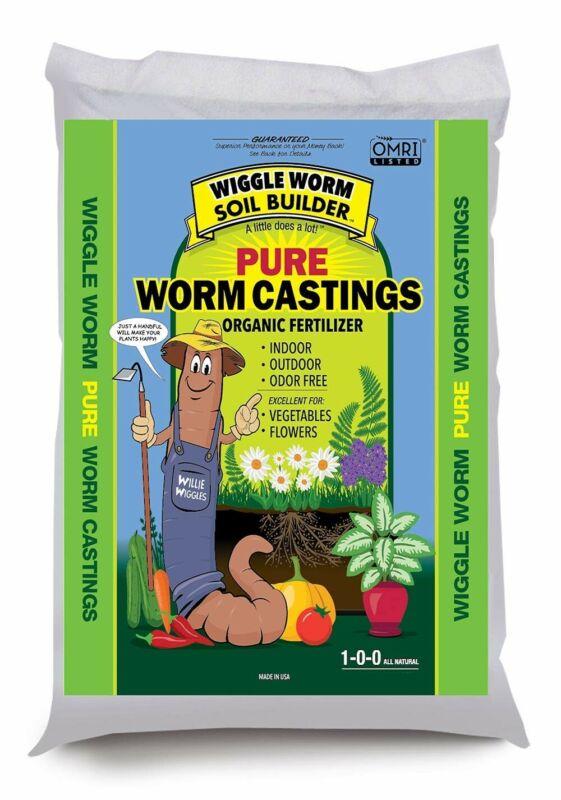 Wiggle Worm Soil Builder Earthworm Castings Organic Fertilizer, 15 lb.