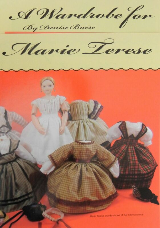 """6 Original French Doll Dress Patterns for 10"""" Marie Terese UFDC Souvenir Doll"""