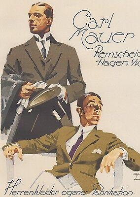 Ludwig Hohlwein - Farbige Werbegraphik 20er Jahre - Motiv Herrenkleidung ()