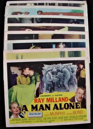 "Original 1955 Western   ""A Man Alone""   Movie Lobby Card Full Set Of Eight"