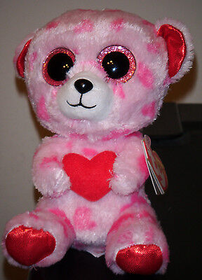 "Ty Beanie Boos ~ SWEETIKINS the 6"" Bear Stuffed Plush Toy (New) 2014 Design"