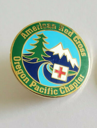 American Red Cross ARC Oregon Pacific Chapter Enamel Lapel Pin Newport Coast