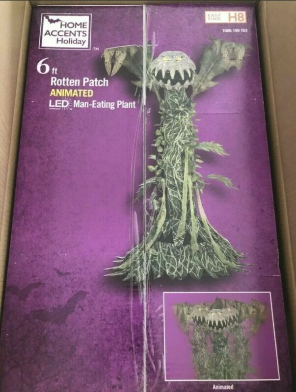 Halloween Exclusive 6ft Man Eating Plant Animatronic - New In Box